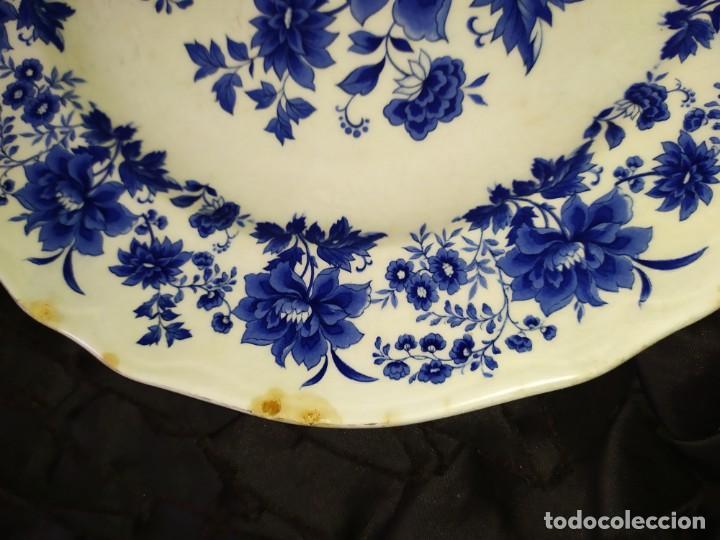 Antigüedades: LOTE 13 PLATOS AZULES SAN CLAUDIO PRINCIPADO BLUEBOUQUET MADE IN SPAIN ANTIGUOS VINTAGE RESTAURAR - Foto 50 - 200050173