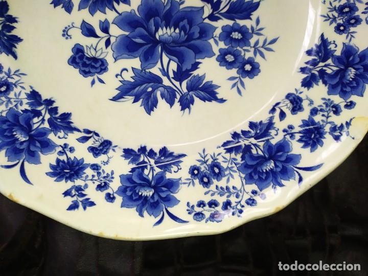 Antigüedades: LOTE 13 PLATOS AZULES SAN CLAUDIO PRINCIPADO BLUEBOUQUET MADE IN SPAIN ANTIGUOS VINTAGE RESTAURAR - Foto 51 - 200050173