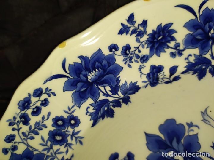 Antigüedades: LOTE 13 PLATOS AZULES SAN CLAUDIO PRINCIPADO BLUEBOUQUET MADE IN SPAIN ANTIGUOS VINTAGE RESTAURAR - Foto 53 - 200050173