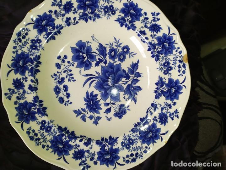 Antigüedades: LOTE 13 PLATOS AZULES SAN CLAUDIO PRINCIPADO BLUEBOUQUET MADE IN SPAIN ANTIGUOS VINTAGE RESTAURAR - Foto 58 - 200050173