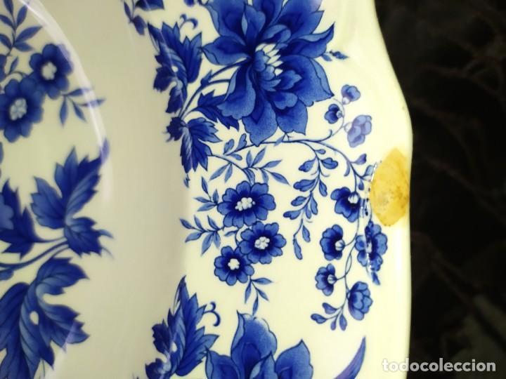 Antigüedades: LOTE 13 PLATOS AZULES SAN CLAUDIO PRINCIPADO BLUEBOUQUET MADE IN SPAIN ANTIGUOS VINTAGE RESTAURAR - Foto 59 - 200050173