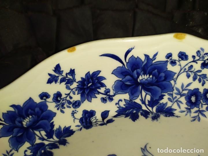 Antigüedades: LOTE 13 PLATOS AZULES SAN CLAUDIO PRINCIPADO BLUEBOUQUET MADE IN SPAIN ANTIGUOS VINTAGE RESTAURAR - Foto 60 - 200050173
