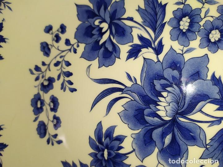 Antigüedades: LOTE 13 PLATOS AZULES SAN CLAUDIO PRINCIPADO BLUEBOUQUET MADE IN SPAIN ANTIGUOS VINTAGE RESTAURAR - Foto 61 - 200050173