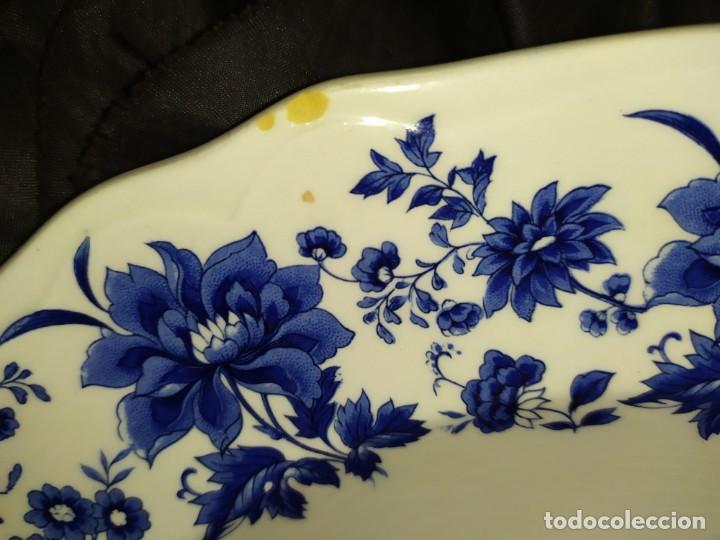 Antigüedades: LOTE 13 PLATOS AZULES SAN CLAUDIO PRINCIPADO BLUEBOUQUET MADE IN SPAIN ANTIGUOS VINTAGE RESTAURAR - Foto 62 - 200050173