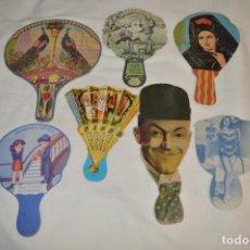 Antigüedades: COLECCIÓN ANTIGUA / MODELOS DIFERENTES - 7 PAI PAI / REVERSO CON PUBLICIDAD ¡MIRA FOTOS/DETALLES!. Lote 200058835