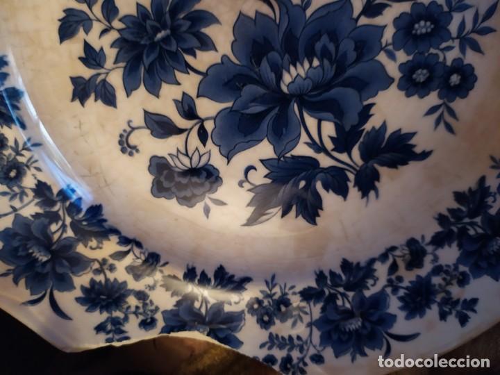 Antigüedades: LOTE 13 PLATOS AZULES SAN CLAUDIO PRINCIPADO BLUEBOUQUET MADE IN SPAIN ANTIGUOS VINTAGE RESTAURAR - Foto 64 - 200050173