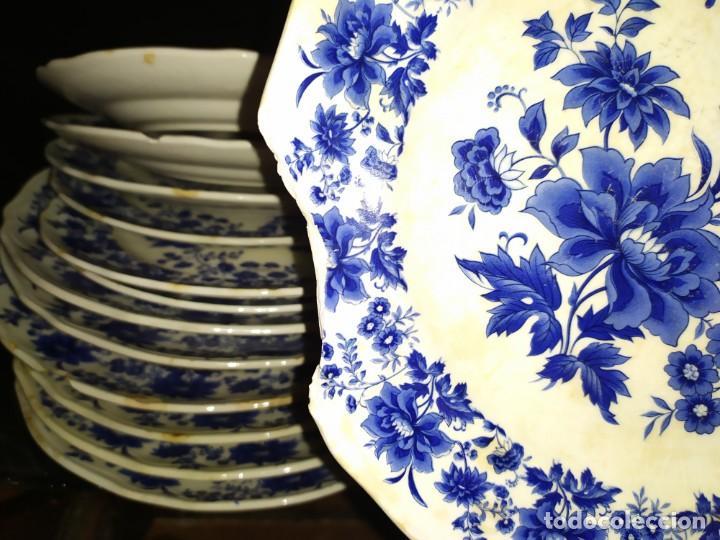 Antigüedades: LOTE 13 PLATOS AZULES SAN CLAUDIO PRINCIPADO BLUEBOUQUET MADE IN SPAIN ANTIGUOS VINTAGE RESTAURAR - Foto 65 - 200050173