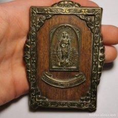 Antigüedades: ANTIGUO ICONO RELIGIOSO - RECUERDO DE ZARAGOZA - NUESTRA SEÑORA DEL PILAR - FINALES SIGLO XIX. Lote 200084975