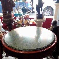 Antigüedades: MESA VELADOR ESTILO IMPERIO-. Lote 200096411