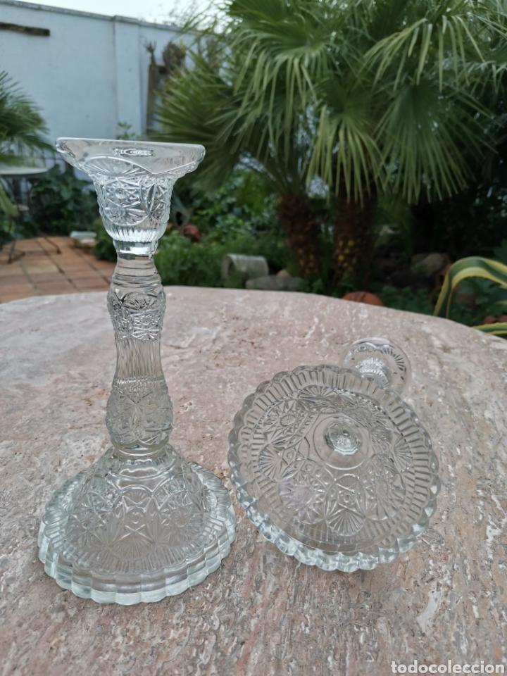 CANDELEROS VIDRIO (Antigüedades - Cristal y Vidrio - La Granja)