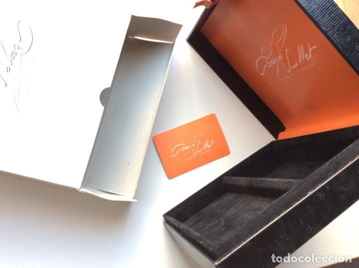 Antigüedades: Envío 6€. Caja guarda gafas del orfevre francés GERARD VUILLET. MIDE 18x18x6cm - Foto 3 - 200101291