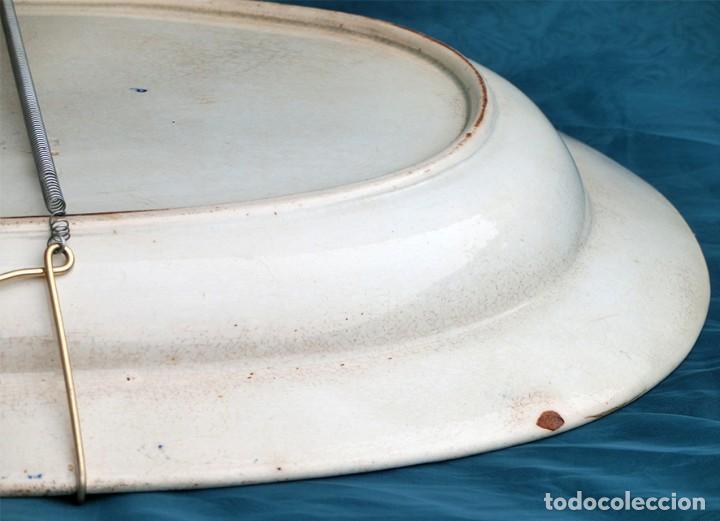 Antigüedades: ANTIGUA FUENTE DE CERÁMICA - TEMÁTICA ORIENTAL - TONOS AZULES - BANDEJA INGLESA - COLECCIÓN - SELLO - Foto 14 - 200103163
