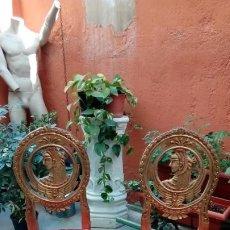 Antigüedades: PAREJA DE SILLAS-. Lote 200110132