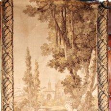 Antigüedades: GRAN TAPIZ ROMÁNTICO DE GOBELINOS S XIX. Lote 200115313