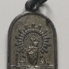 Antigüedades: VIRGEN DEL PILAR MEDALLA DE PLATA. Lote 200125580