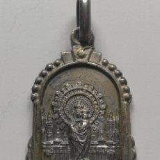 Antigüedades: VIRGEN DEL PILAR MEDALLA DE PLATA. Lote 200125868