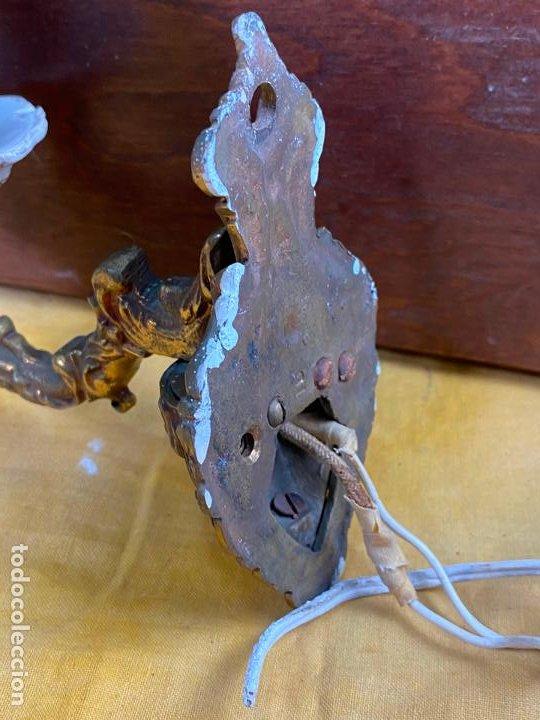 Antigüedades: PRECIOSO APLIQUE DE PARED EN BRONCE - Foto 2 - 200129716