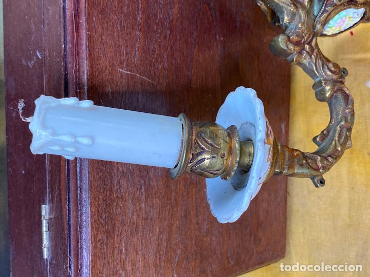 Antigüedades: PRECIOSO APLIQUE DE PARED EN BRONCE - Foto 4 - 200129716