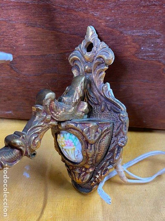 Antigüedades: PRECIOSO APLIQUE DE PARED EN BRONCE - Foto 6 - 200129716