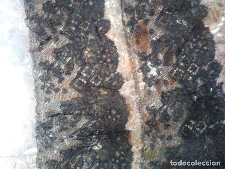 Antigüedades: ENCAJES ANTIGUOS INDUMENTARIA - Foto 16 - 200136398
