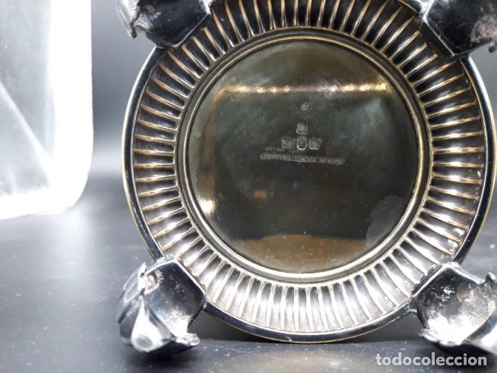 Antigüedades: Pareja floreros metal - Foto 3 - 200149383