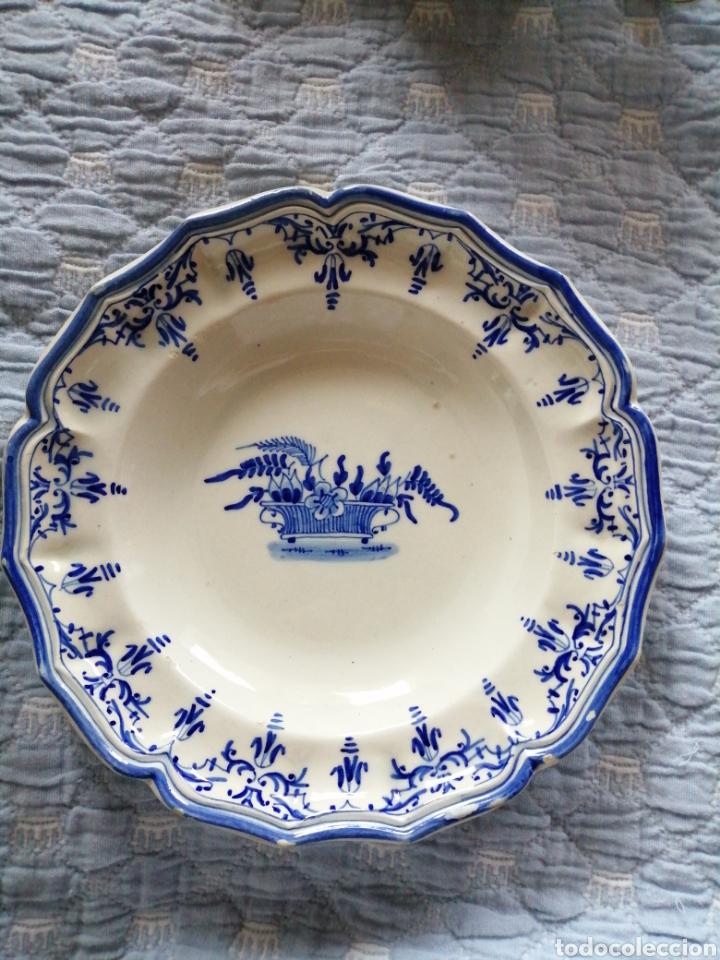 PLATO HONDO ALCORA (Antigüedades - Porcelanas y Cerámicas - Alcora)