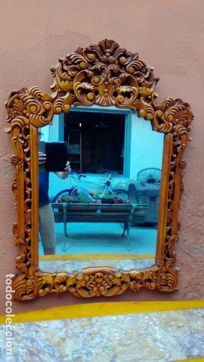 Antigüedades: consola tallada con espejo- - Foto 3 - 200166317