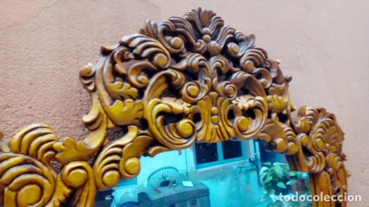 Antigüedades: consola tallada con espejo- - Foto 5 - 200166317