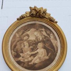Antigüedades: GRABADO ANTIGUO MARIA CON NIÑO JESUS¿SIGLO XVIII?APROX. Lote 200168076
