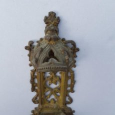 Antigüedades: VENDITERA ANTIGUA DE BRONCE O LATON NEOGOTICO,SIGLO XIX APROX. Lote 200173437