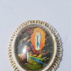 Antigüedades: MARCO ANTIGUO CON BOVEDA DE CRISTAL,AÑOS 50-60 APROX. Lote 200176726