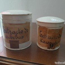 Antiquités: FRASCO, BOTE PORCELANA, FARMACIA. Lote 200184222