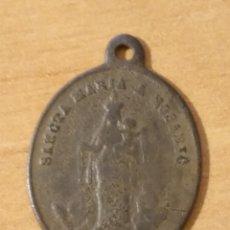 Antigüedades: BRO 504 - MEDALLA RELIGIOSA - REVERSO DOS CORAZONES CON CORONA - SANTA MARIA DEL ROSARIO. Lote 200187070