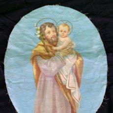 Antiguidades: OLEO RELIGIOSO SOBRE LIENZO. Lote 200190082