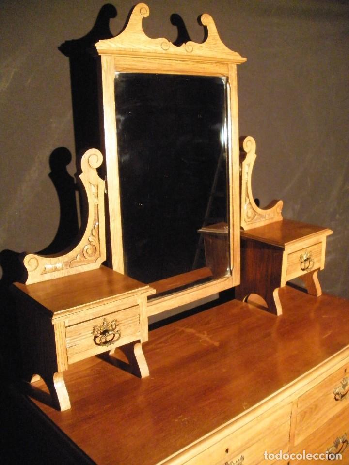 Antigüedades: comoda de roble- - Foto 2 - 200193833