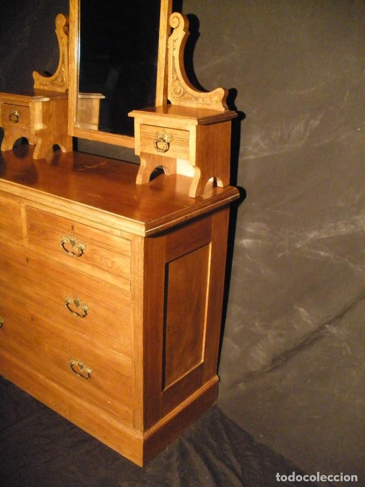 Antigüedades: comoda de roble- - Foto 6 - 200193833