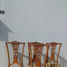 Antigüedades: SILLAS JUEGO DE 4-. Lote 200240741