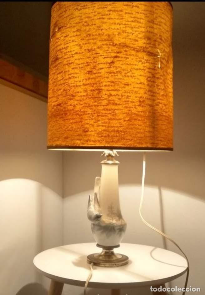 LAMPARA DE PORCELANA , MODERNISTA, ART DECO 1930 (Antigüedades - Iluminación - Lámparas Antiguas)
