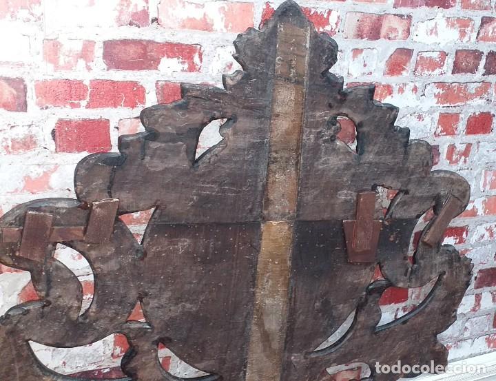 Antigüedades: REMATE O PENACHO DE CAMA SIGLO XVIII - Foto 9 - 200255045