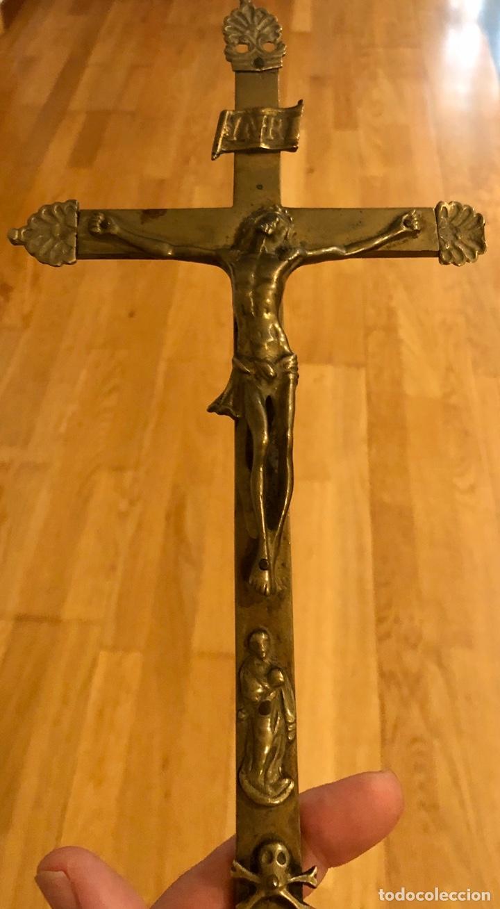 Antigüedades: LOTE 8 CRUCIFIJOS ANTIGUOS CRISTO. - Foto 4 - 200278692