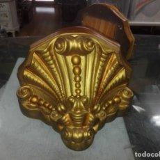 Antigüedades: MÉNSULA DE ESCAYOLA POLICROMADA DE MEDIADOS DEL SIGLO XX -- 13X19. Lote 200292651