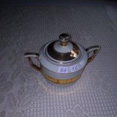 Antigüedades: AZUCARERO SANTA CLARA.DECORACIÓN EN DORADO. Lote 200293397