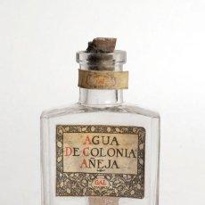 Antigüedades: ANTIGUA BOTELLA DE PERFUME COLONIA AÑEJA. GAL MADRID. TAPÓN DE CORCHO. Lote 200293951