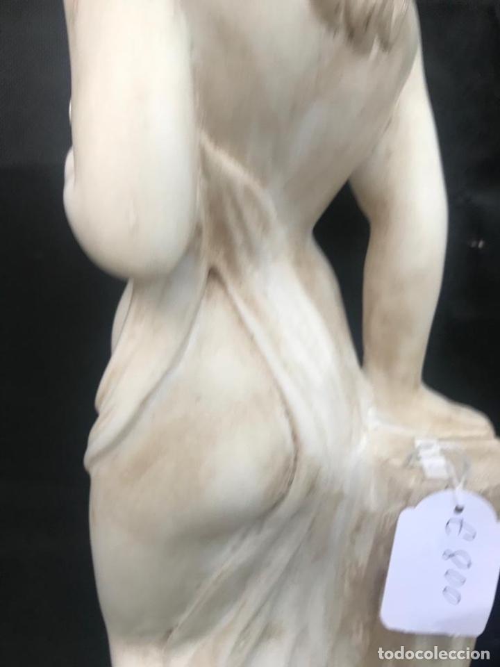 Antigüedades: Talla de mujer en mármol travertino italiano - Foto 3 - 200299858