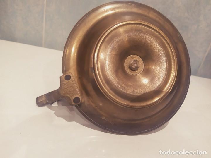 Antigüedades: ANTIGUO PORTAVELAS DE LATÓN/BRONCE, BUEN ESTADO - Foto 11 - 200305941