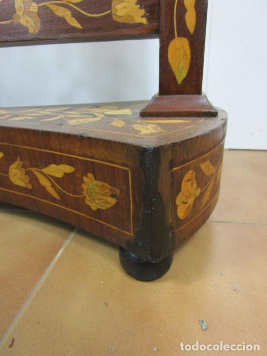 Antigüedades: Protege Chimenea - Sello W.F Greenwod & Sons Ltd, York, Inglaterra - Madera y Marquetería - S. XIX - Foto 8 - 200317068
