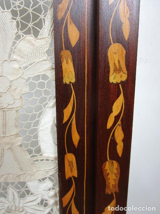 Antigüedades: Protege Chimenea - Sello W.F Greenwod & Sons Ltd, York, Inglaterra - Madera y Marquetería - S. XIX - Foto 10 - 200317068