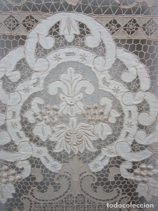 Antigüedades: Protege Chimenea - Sello W.F Greenwod & Sons Ltd, York, Inglaterra - Madera y Marquetería - S. XIX - Foto 12 - 200317068