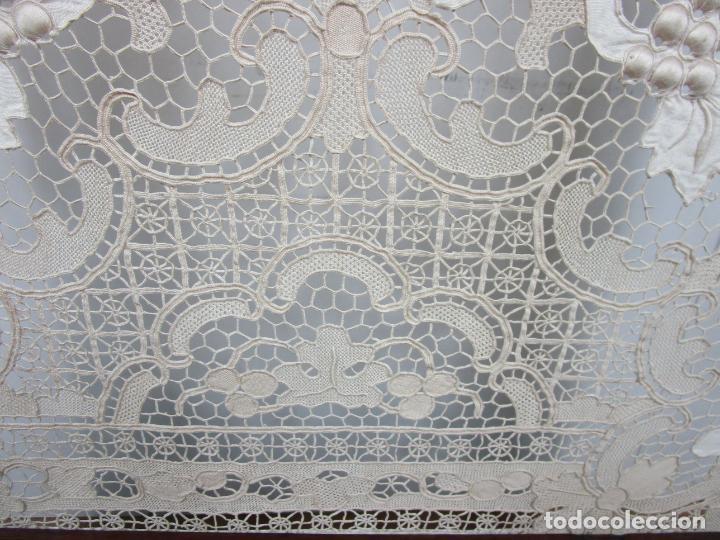 Antigüedades: Protege Chimenea - Sello W.F Greenwod & Sons Ltd, York, Inglaterra - Madera y Marquetería - S. XIX - Foto 13 - 200317068