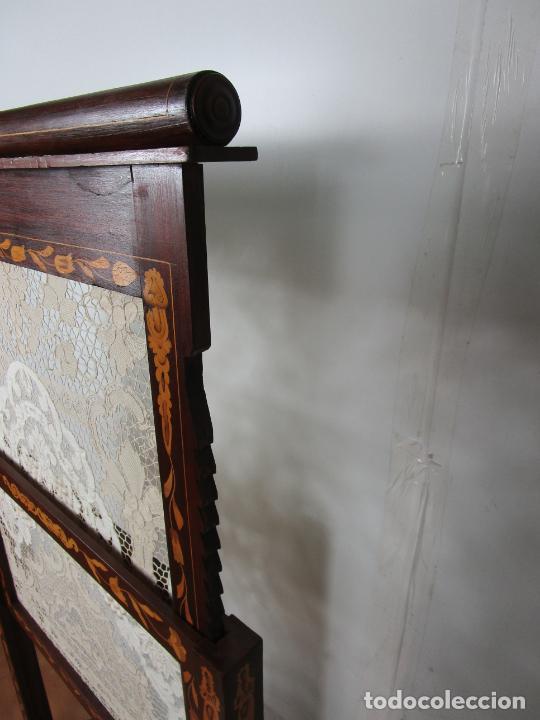 Antigüedades: Protege Chimenea - Sello W.F Greenwod & Sons Ltd, York, Inglaterra - Madera y Marquetería - S. XIX - Foto 16 - 200317068